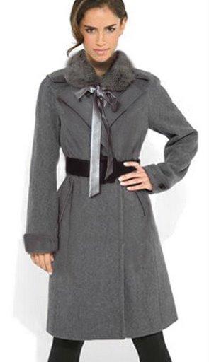 элегантное пальто с мехом