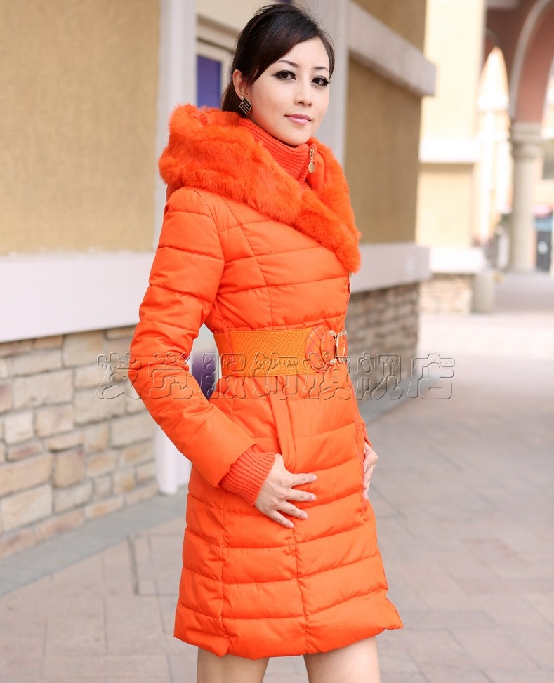 женская куртка с мехом кролика