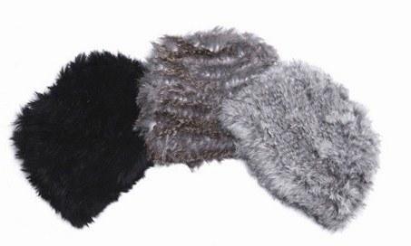 шапки из меха кролика