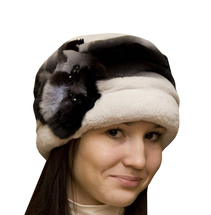 оригинальная шапка из меха кролика