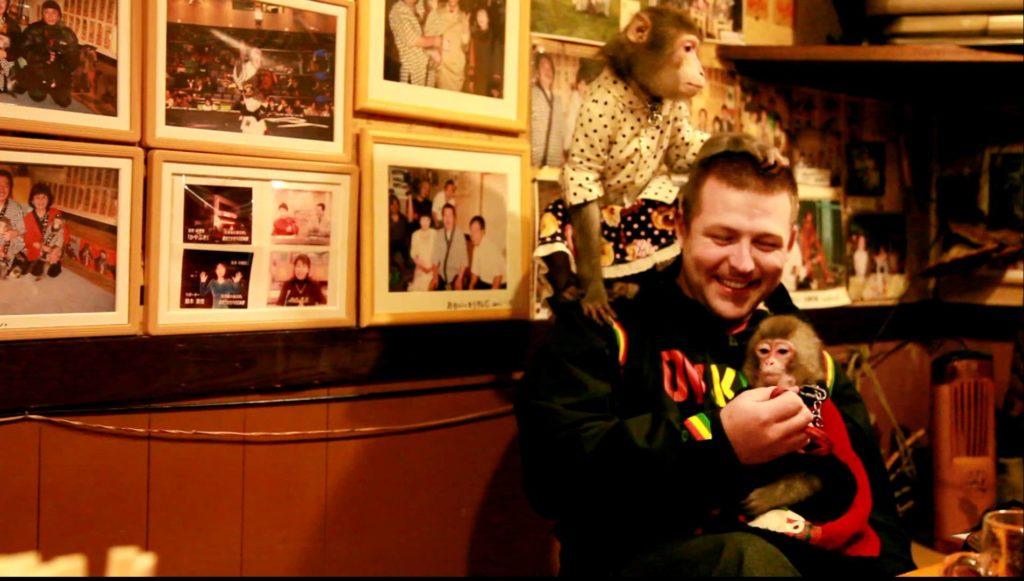 Япония - страна чудес: официантами там работают обезьяны (Kayabykiya Tavern)